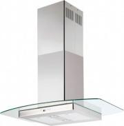 Silverline 4240 90 Cappa Cucina 90 cm Isola Filtrante in Vetro e Acciaio - 4240