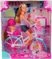 Simba 105739050 Bambola Giro in bici Steffi Love