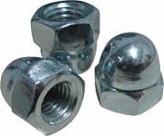 Ambrovit Dadi esagonali Ciechi in Acciaio zincato 5 mm UNI 5721 Cf da 100 Pz 15870