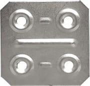 Sipa Piastrina di Giunzione piatta 4 fori zincato 40x40 mm Cf da 200 Pz 57