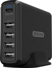Sitecom CH-017 PowerBank 60 W Universale Nero  Fast USB Desktop Charger
