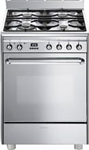 Smeg CP60X9 Cucina a Gas 4 Fuochi Forno Elettrico 60x60 cm Pirolitico Inox