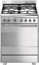 Smeg Cucina a Gas 4 Fuochi Forno Elettrico Ventilato Grill 60x60 cm CX68MF8-2