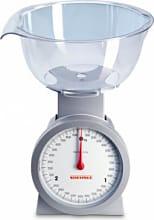 Soehnle 65041 Bilancia da Cucina Analogica Meccanica Ciotola 3Kg Argento  Actuell