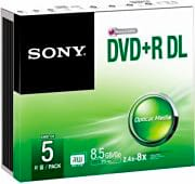 Sony Confezione N°5 DVD+R DUAL LAYER 5DPR85SS