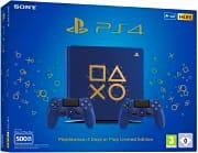 Sony 9431978 PS4 Playstation 4 Slim 500 Gb + 2° Controller colore Blu  Oro