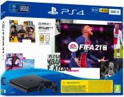 Sony 9828228 PlayStation 4 Slim PS4 500 GB Wifi Bluetooth LAN+Fifa 2021+FUT 21