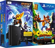Sony Console PlayStation 4 Ps4 1 TB + Ratchet & Clank + Crash Bandicoot 9891062