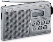 Sony Radio portatile digitale FMAM Funzione orologio col Silver ICF-M260S
