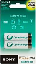 Sony Batterie Alcaline Stilo ricaricabili Batteries 2500 mAh NHAAB2G
