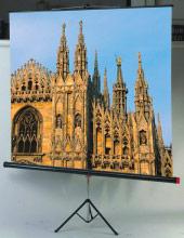 """Sopar 1180 Telo per Videoproiettore Manuale a Cavalletto 95"""" 180 x 180 cm"""