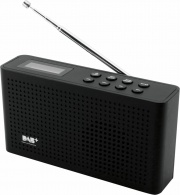 Soundmaster DAB150SW Radio Portatile DAB  FM Ricaricabile jack 3.5 mm Nero