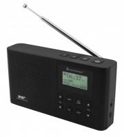 Soundmaster DAB160SW Radio Portatile DAB+ Nero Pulsanti Ioni di Litio 1200 mAh