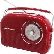 Soundmaster DAB450RO Radio Portatile DAB  FM Ricaricabile jack 3.5 mm Rosso