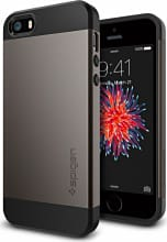 "Spigen 041CS20175 Custodia Cover iPhone Schermo max 4"" TPU Gun Metal  Slim Armor"
