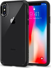 Spigen 057CS22129 Custodia Cover iPhone X Nero Matt  Ultra Hybrid