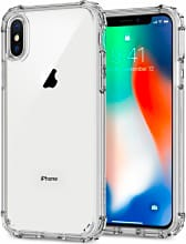 Spigen 057CS22141 Custodia Cover iPhone X materiale TPU colore Trasparente