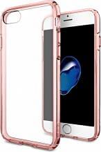 Spigen SGP-042CS20445 Custodia Cover per iPhone 7 in TPU RosaTrasparente
