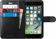 Spigen SGP-042CS20545 Cover Custodia Smartphone iPhone 7 Pelle Wallets Black 042CS20545