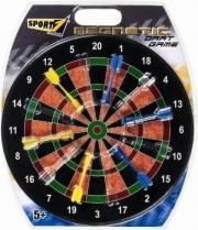 Sport One Magnetico Mandelli Bersaglio Diametro 40 cm. con 6 Freccette Bivalva