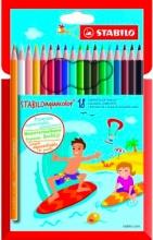 Stabilo 1618-6 Confezione 18 Aquacolor Cart