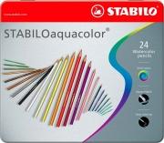 Stabilo 1624-5 Confezione 24 Stabilo Aquacolor Scat Met