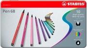 Stabilo 6810-6 Confezione 10 Stabilo Pen 68 Colori assortiti