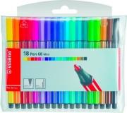 Stabilo 6815-6 Confezione 15 Stabilo Pen 68 Colori assortiti