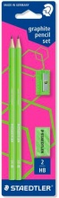 Staedtler 180FSBK2P3 Set Neon 2 Matite Gomma Temper Verde
