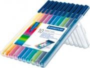 Staedtler 323 SB10 Confezione 10 Penna Triplus Color 323 Porta Sint