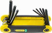 Stanley 2-69-266 Chiave torx Set 8 chiavi Impugnatua ergonomica Misure da 9 a 40