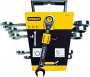 Stanley 4-89-907 Set 6 chiavi combinate a cricchetto 10-19 mm