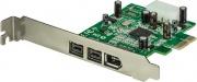 StarTech PEX1394B3 Scheda adattatore PCI Express FireWire 2b 1a 1394 a 3 porte