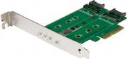 StarTech PEXM2SAT32N1 Adattatore SSD a 3 porte 1x PCIe NVMe 2x SATA III PCIe 3.0