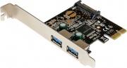 StarTech PEXUSB3S23 Scheda Controller USB PCIe PCI Express a 2 Porte SATA