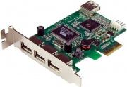 StarTech PEXUSB4DP SchePci Express basso prfilo 4 porte USB 2.0 ad alta velocità