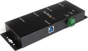 StarTech ST4300USBM Hub USB 3.0 4 Porte Hot-swap Velocità 5000 Mbits Nero