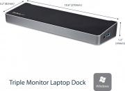 StarTech USB3DOCKH2DP Docking Station Notebook replicatore di porte USB 3.0