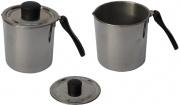 Steel Pan E10402 Bollilatte Inox Eco con Manico Bakelite litri 0.5