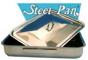 Steel Pan E10715 Coperchio Rettangolare Bombato Inox cm 40x28