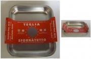Steel Pan E10778 Teglia Quadra Acciaio Inox 1810 cm 36x36 Antigraf