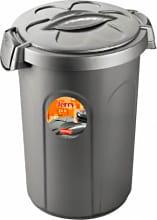 STEFANPLAST 70300 Bidone Plastica 23 litri Colore Grigio