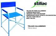 Stiliac ST034055 Sedia Pieghevole da Regista in Alluminio Tessuto Blu  Party