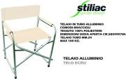 Stiliac ST034062 Sedia Pieghevole da Regista in Alluminio Tessuto Ecrù ST034055 Party
