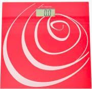 Stube Bilancia pesapersone elettronica digitale Max 150 Kg Rosso Linea Rose 640