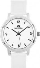 Superga STC011 Orologio Donna Acciaio Analogico Cinturino in Nylon colore Bianco