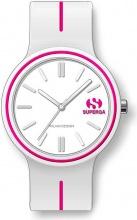 Superga STC063 Orologio Donna Quadrante Analogico Cinturino Silicone Bianco
