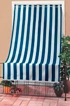 Swish Tenda da sole finestra balcone Tessuto CotonePoliestere 200x300cm col Blu