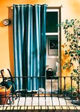 Swish Tenda da sole finestra balcone CotonePoliestere 140x250cm Blu W765361