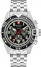 Swiss Military Orologio Uomo Analogico Cronografo Cinturino Acciaio 6530404007